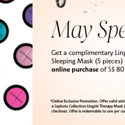 Sephora.sg: Coupon Code for a Free Lingzhi Therapy Mask on $80 spend