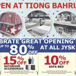 JYSK: Great opening deals with up to 80% off on home furnishing products at all stores