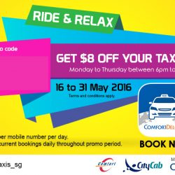 ComfortDelGro: Coupon Code for $8 OFF Your Taxi Fare!
