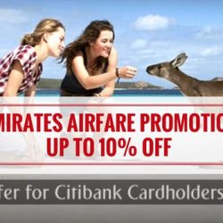 Emirates: Citibank Special Coupon Code for 10% OFF on all Regular Airfares