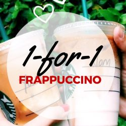 Starbucks: 1-for-1 Frappuccino every Tuesday to Thursday