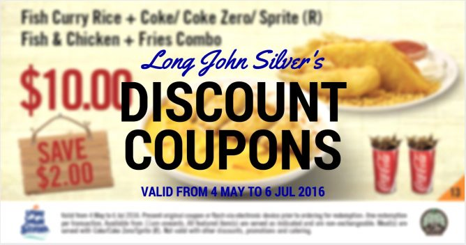 enjoy a combination of your favourite long john silver s golden meals for 10 00 save up to 3 30 to redeem flash the coupon of your choice on your