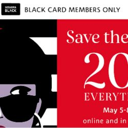 Sephora: 20% OFF Everything for Black Card Members Online & in Stores