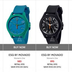 Ashford: Coupon Code for 15% off ESQ By Movado Watches