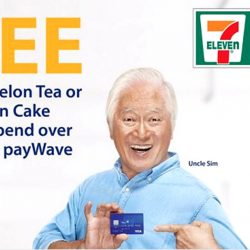 7-Eleven: Free Pokka Ice Melon Tea or Baumkuchen Chocolate Cake with Visa payWave