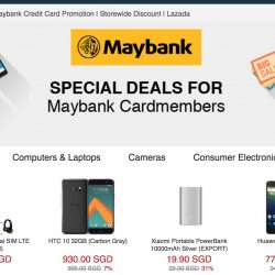 Lazada: Coupon Code for Up to 14% off with Maybank Cards