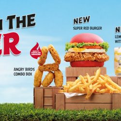 McDonald's: NEW Super Red Burger & Spicy Nuggets in Angry Birds Combo Box!