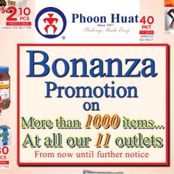 Phoon Huat: Bonanza Promotion on more than 1000 items at all 11 outlets & online