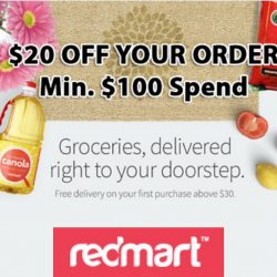 Redmart: Coupon Code for $20 OFF Your Order