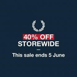 Fred Perry: 40% OFF Storewide Sale + Additional 10% OFF for VIPs and DBS Cardmembers!