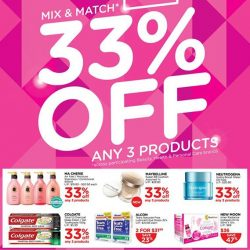 Watsons: More Great Deals This Week! Mix & Match Get 33% OFF and more!