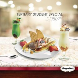 Haagen-Dazs: Tiertiary Students get 20% off a Banana Split, Seventh Heaven or Frappe