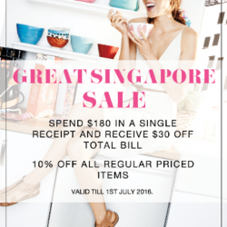 Aerosoles: Great Singapore Sale - Spend $180 and receive $30 off