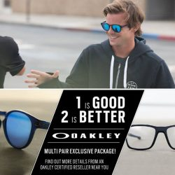 Capitol Optical: Purchase any 2 Oakley eyewear with 1 of it at a special price