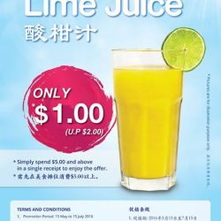 Kopitiam: Lime Juice at Half Price at Tampines One