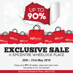 EpiCentre: Exclusive Sale Up to 90% OFF at MBS, ION & Wheelock Place!