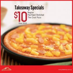 Pizza Hut:  Choose any of your favourite Classic flavours for Takeaway at only $10!