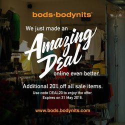 bods.bodynits: Additional 20% off All Sale Items