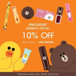 Missha: Members' Special 10% OFF Missha x LINE Friends Collection