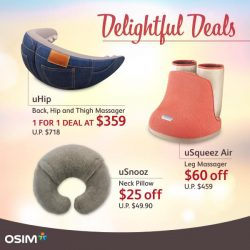 OSIM: 1-for-1 uHip Deals and more