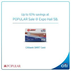 Citibank: Up to 10% savings at POPULAR Unbelievable Sale with Citibank SMRT Card