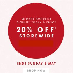 kikki.K: 20% OFF storewide for members online and in stores