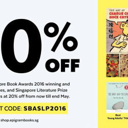 Epigram Food Books: 20% OFF Singapore Book Awards 2016 winning and shortlisted titles