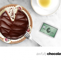 American Express: $1 Slice of Flourless Chocolate Cake at Awfully Chocolate