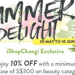 iShopChangi: Coupon Code for 10% OFF on Beauty Products