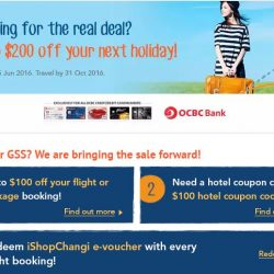 Zuji: Redeem up to $40 iShopChangi e-vouchers with flight booking using OCBC card
