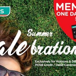 Watsons: Members' One Day Preview Sale Up to 60% OFF + 6% Rebate for POSB Everyday Card