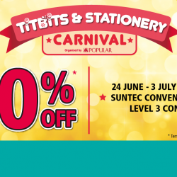 POPULAR: Titbits & Stationery Carnival 2016 with Buy 1 Get 1 Free Deals, $10 Bundle Deals & More