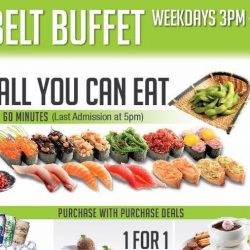 Sakae Sushi: Brand New $18 All You Can Eat Sushi Belt on Weekdays