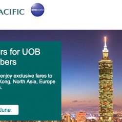 Cathay Pacific: Special Economy Class Fares with UOB Cards