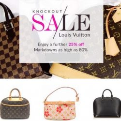 Reebonz: Louis Vuitton Knockout Sale Further 25% OFF with Coupon Code