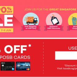 Lazada: GSS Sale Up to 90% OFF + Coupon Code for 10% OFF with DBS/POSB Cards