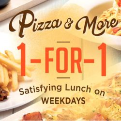 Pizza Hut: 1-for-1 Satisfying Lunch on Weekdays