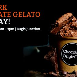 Chocolate Origin: Free Dark Chocolate Gelato Giveaway on 18 June at Bugis Junction
