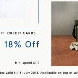 Citibank: Coupon Code for 18% OFF min. $110 Spend at Zalora