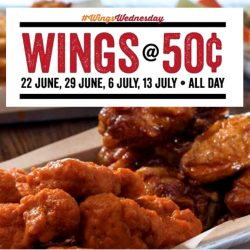 Wing Zone: Enjoy Wings At Only 50 Cents Each On Wednesdays!