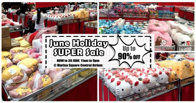 aafdb6542 Head down to Marina Square Central Atrium for Sanrio June holiday Super  Sale from now to 30 June 2016 and enjoy discounts up to 90% off Sanrio  character ...