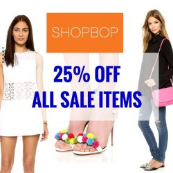 Shopbop: Coupon Code for Extra 25% OFF