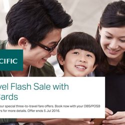 Cathay Pacific: Three-to-Travel Flash Sale with DBS/POSB Cards to Hong Kong, Taipei, Korea, Bangkok & more