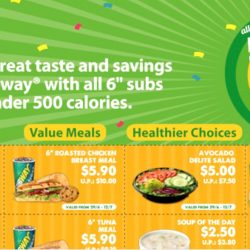 Subway: Save up to $16.70 with Coupons for Dine-in and Takeaway
