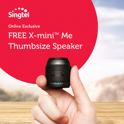 Singtel: FREE X-mini™ ME Thumbsize Speaker (worth $29.90) with any new Combo Mobile plan sign-up online