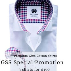 Straits Establishment: GSS Special Promotion 3 Shirts for $150