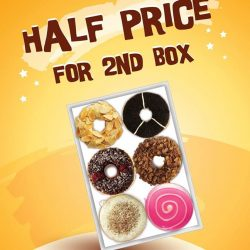 J.Co Donuts & Coffee: Special donuts promotion - 2nd box of donuts for half the price