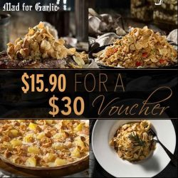 Mad for Garlic: Get a $30 Mad for Garlic Voucher at only $15.90 at Qoo10