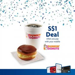 UOB: $1 Donut + Americano Set (worth S$4.30) from Dunkin' Donuts