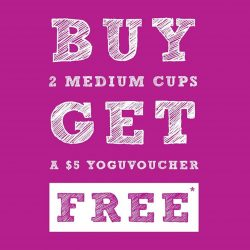 Yoguru: Buy 2 and get a $5 Yoguvoucher at The Clementi Mall